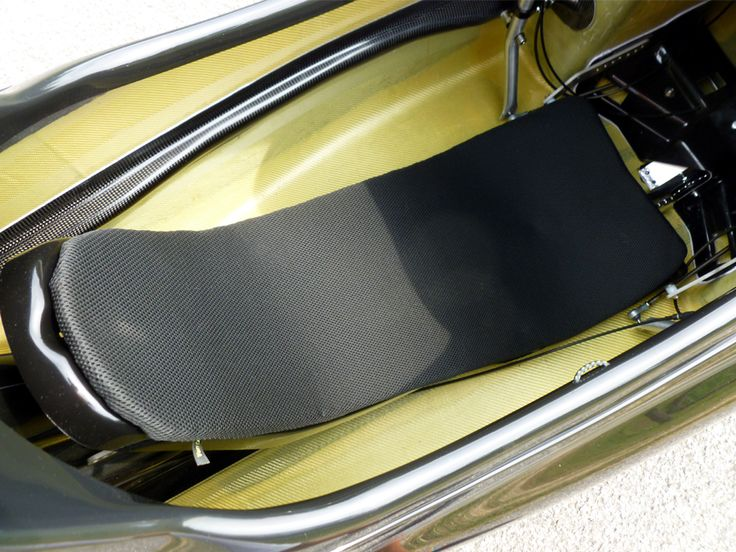 Ventisit Sport seatpad on WAW 291 velomobile