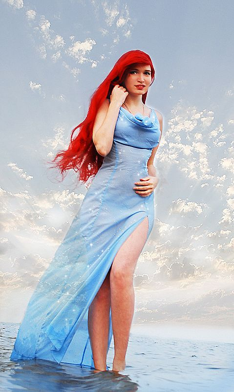 I've never seen someone do this Ariel dress cosplay before! I love it!
