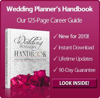 Wedding Planner's Handbook  article about being a wedding planner