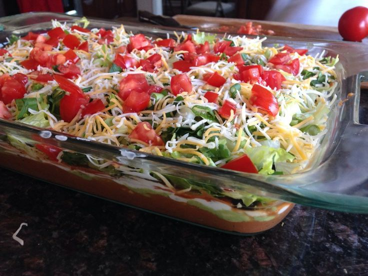 Layered Bean Dip - Great Food and Lifestyle. Perfect for football ...