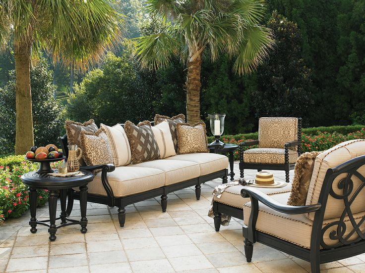 kingstown sedona cast aluminum deep seating furniture from tommy bahama outdoor