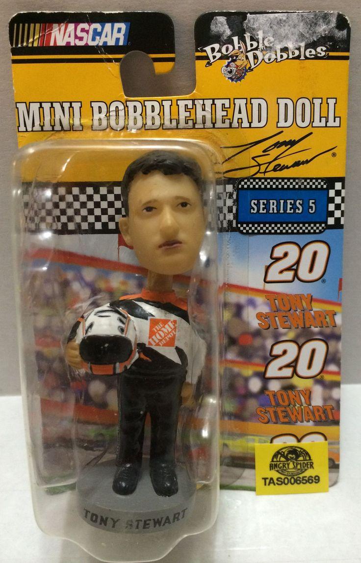 (TAS032324) - Nascar Bobble Dobbles Mini Bobble Head - Tony Stewart #20