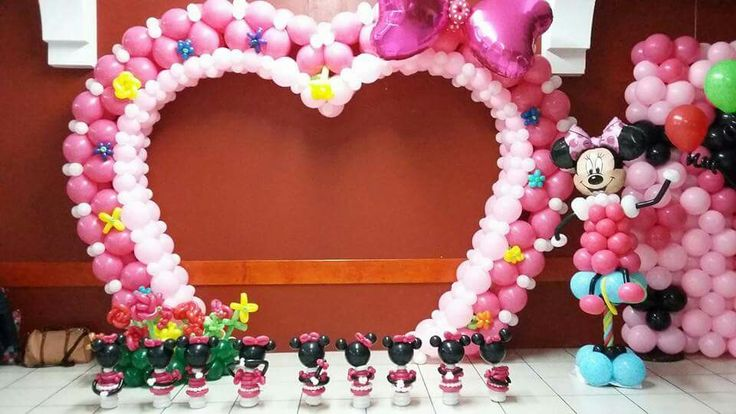 570 best minnie mickey balloons images on pinterest for Balloon decoration minnie mouse