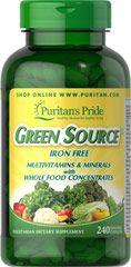 Green Source® Iron Free Multivitamin & Minerals  240 Caplets  $69.99