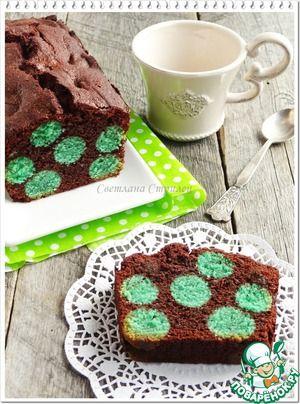 Шоколадный кекс в горошек