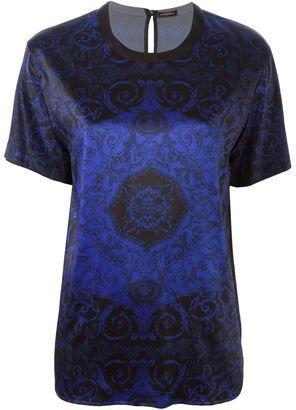 Versace baroque T-shirt - Shop for women's T-shirt - BLUE T-shirt