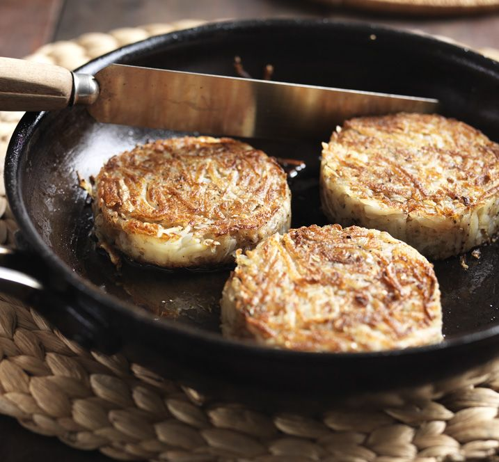 Potato rosti can be made in advance and reheated before serving - try them for breakfast.