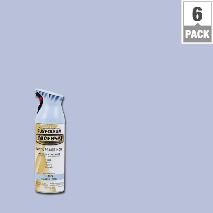 Rust-Oleum Universal 12 oz. All Surface Gloss Tranquil Blue Spray Paint and Primer in One (6-Pack)