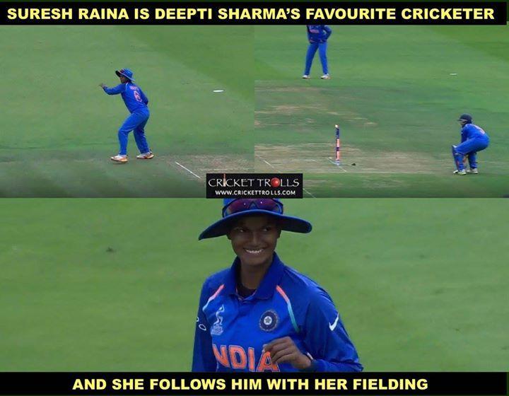 Deepti Sharma runs Katherine Brunt out with a direct hit. #WWC17 #WWC17Final #INDvENG #ENGvIND For more cricket fun and updates click http://ift.tt/2gY9BIZ - http://ift.tt/1ZZ3e4d