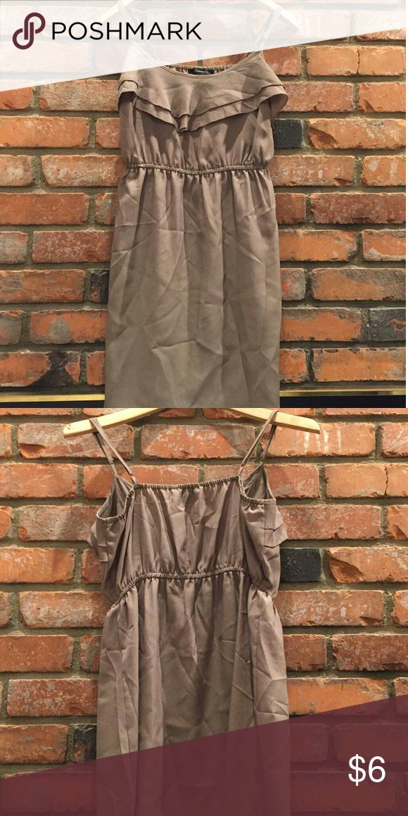 Taupe brown short dress Cute forever 21 taupe brown dress size medium Dresses Mini
