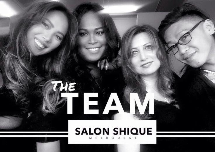 The fabulous Salon Shique team. #hairdresser #melbourne #hairextensions #beauty #hairloss #trichotillomania