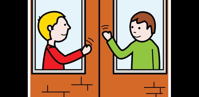 Naapuri asuu viereisessä asunnossa tai talossa.