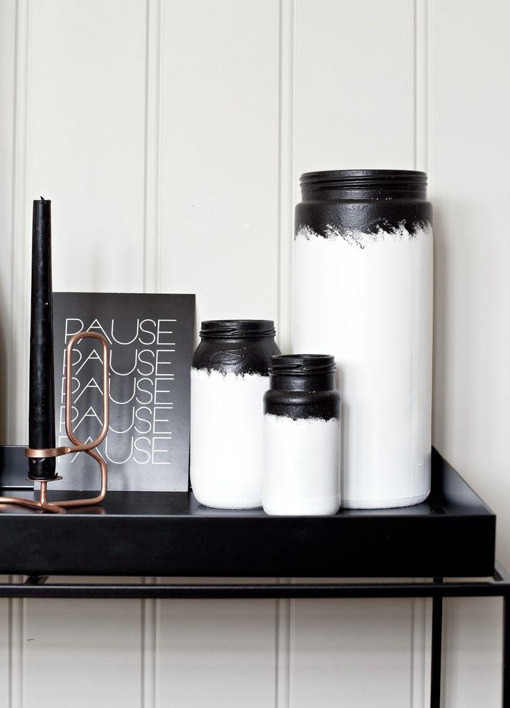 Design-vasene du kan lage selv - http://www.rom123.no/ide/mal-vasene/