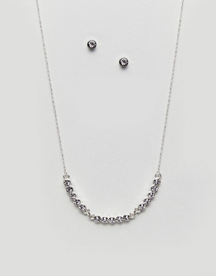 Johnny Loves Rosie Necklace And Earring Gifting Set - Silver