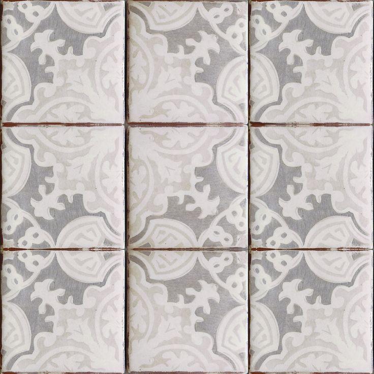 Simply elegant terracotta tile, oxford & gray on off white. Get it at World Mosaic Tile in Vancouver http://www.worldmosaictile.com/tabarka-handmade-terra-cotta-tiles/