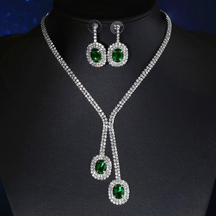 Aliexpress.com: Comprar Vinnago mujeres Bisutería Pendientes y Collar Set Party Prom Joyería de La Boda Establece Crystal Nupcial Conjunto Collar de la Declaración de statement necklace set fiable proveedores en Vinnago Franchised Store