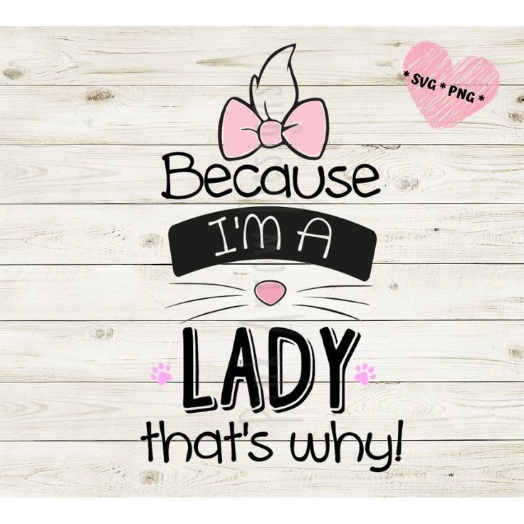 Download Because I'm a lady that's why svg, Disney Marie svg, Marie ...