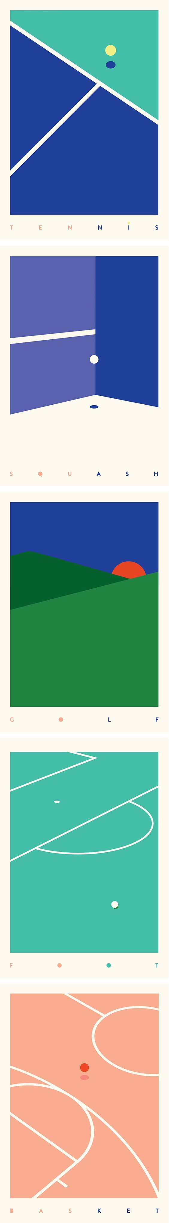 these minimalist posters convey a sense of order and direction and also not too obtrusive so being quite reserved.: