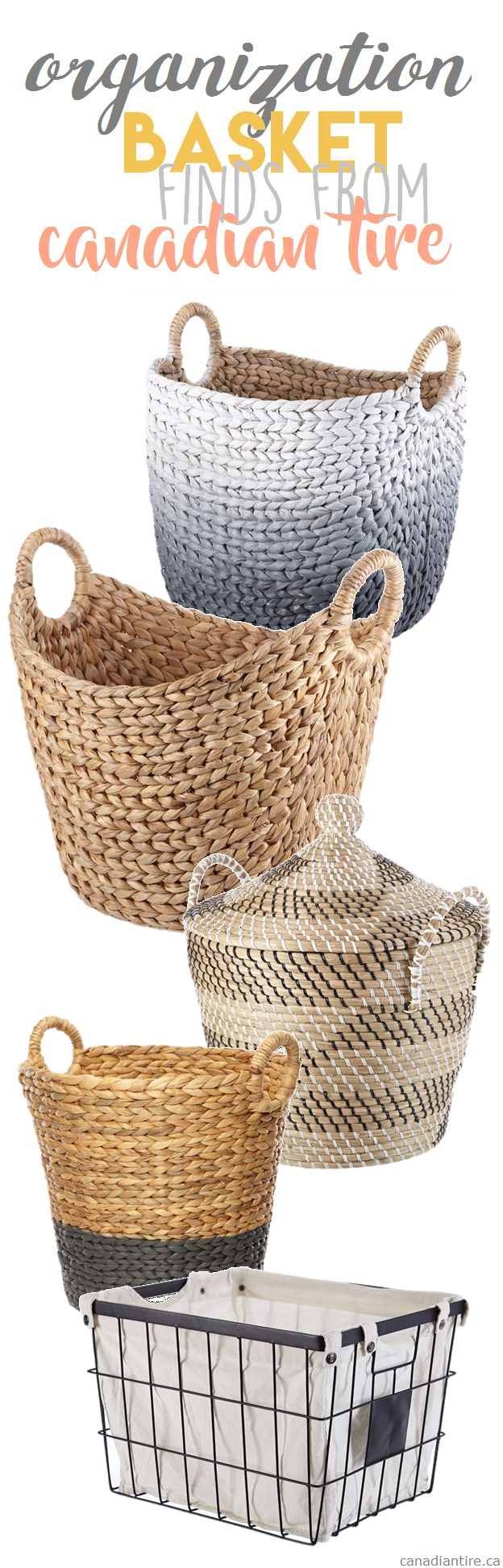 Find Cute And Affordable Baskets From Canadian Tire To Organize Your Home S Canvas