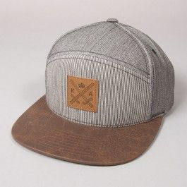 King Apparel insignia hybrid strap back grey hickory - Sale. Before £23 and now £18