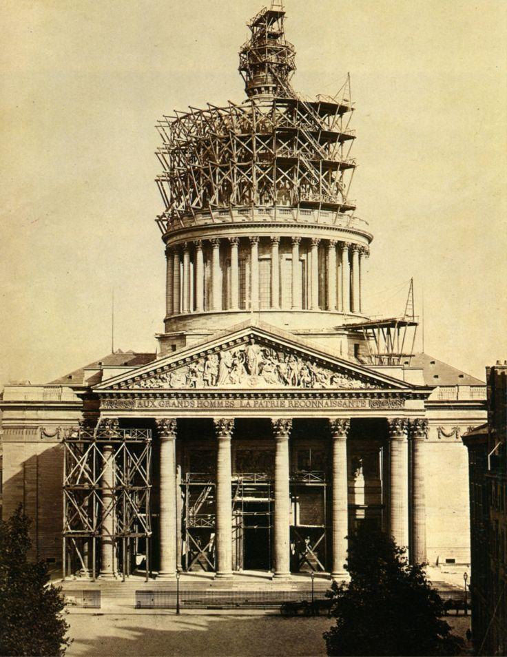 Par Charles Marville. Construction du Panthéon