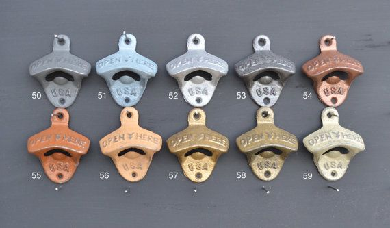 Wall Mounted Bottle Opener Over 50 Colors Cast by NevermoreGifts