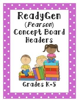 27 best images about ready gen grade 4 on Pinterest | A concept ...