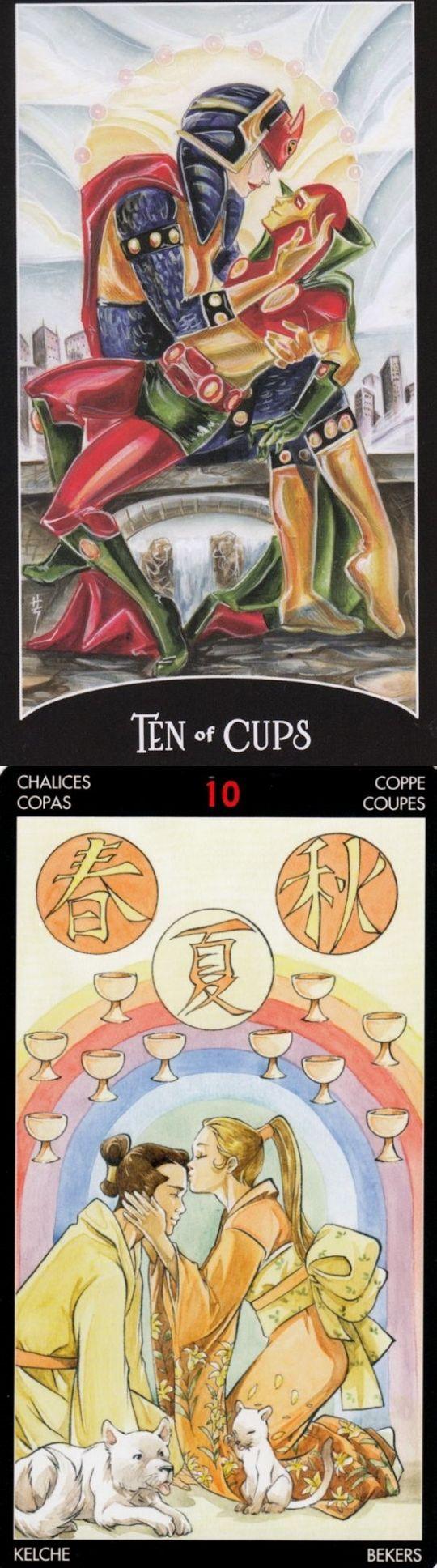 Ten of Cups: happiness and shattered dreams (reverse). Justice League Tarot deck and Manga Tarot deck: tarot card meanings wiki, best free tarot reading online and real free tarot. Best 2017 psychic readings questions and tarot decks vintage. #happyhalloween #tarotmeaning #devil