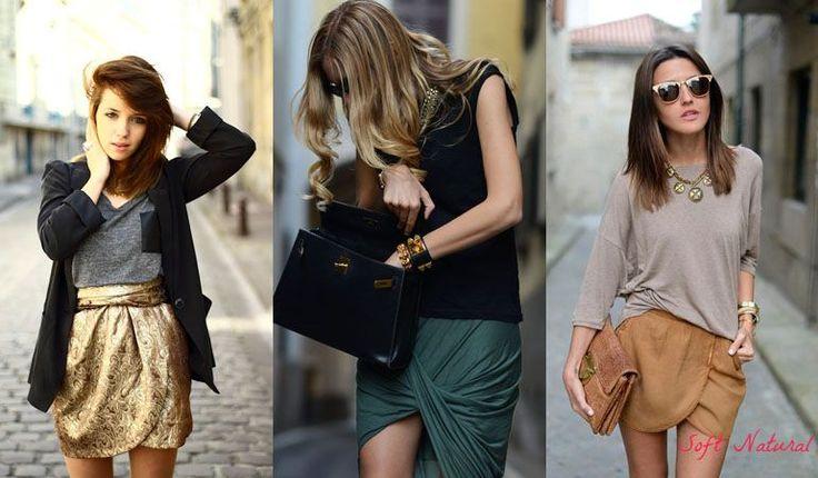 Outfits for Soft Natural (Kibbe) - skirts. Typ urody Soft Natural – uwodzicielka