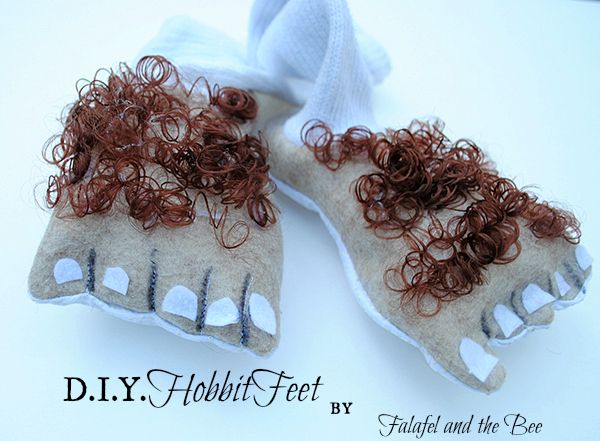 DIY Hobbit feet. I made some once with knee-kigh nylons and foam glued on the bottom. I like these too!