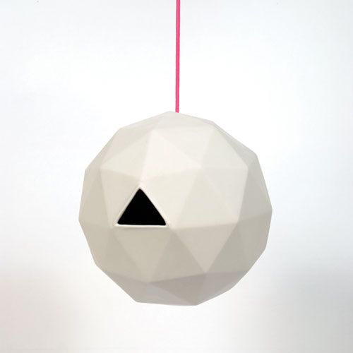DESIGNDELICATESSEN - Areaware - Geo Birdhouse - fuglehus. For the garden.