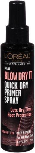 L'Oreal Paris Advanced Hair Style Blow Dry It Quick Primer Spray, 4.2 Fl Oz | Jet.com