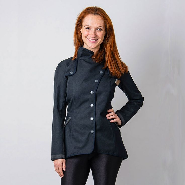 No Such Thing ladies cycling trench coat - Navy | Cyclechic | Cyclechic.co.uk | rainwear for cyclists