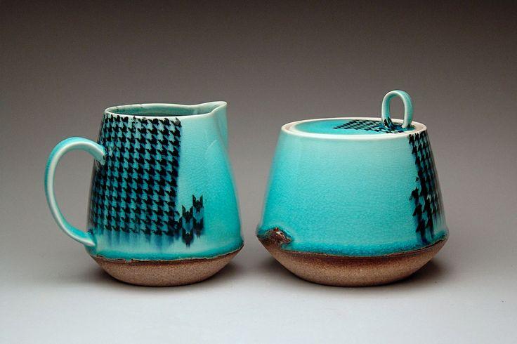 Stephanie Galli cream & sugar set ceramic 2013 MFA Ceramics