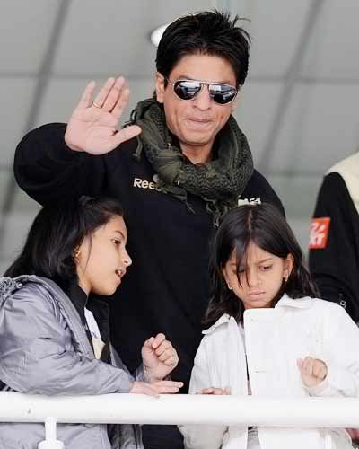 Shah Rukh and Suhana Khan (with a friend)