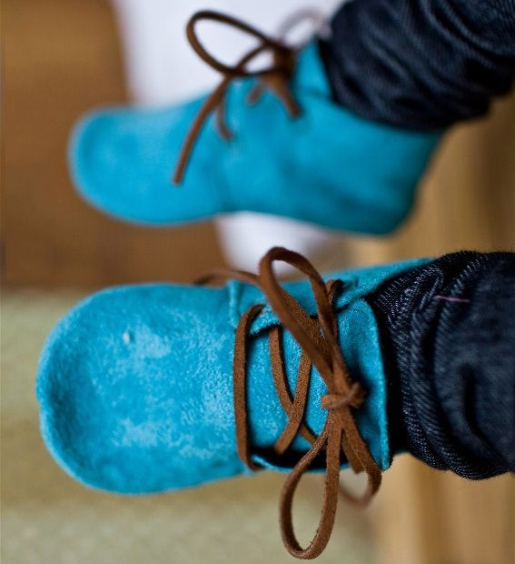 Blue Suede Baby Shoes