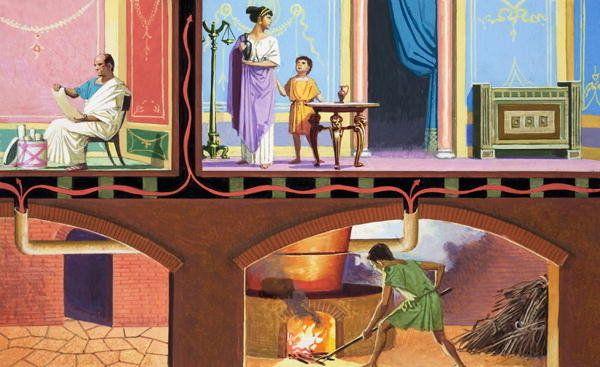 Roman Central Heating Hypocaust By Severino Baraldi