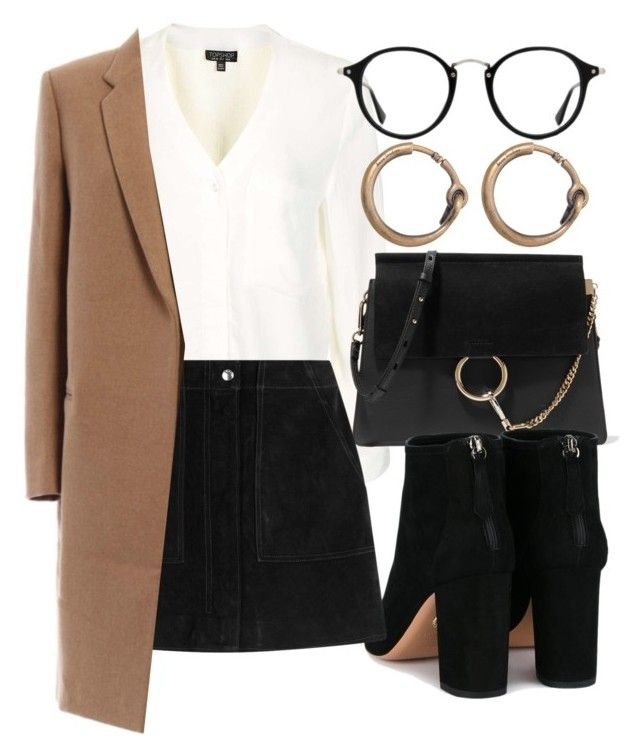 """""""Untitled #6446"""" by laurenmboot ❤ liked on Polyvore featuring Topshop, Chloé, Aquazzura, rag & bone, Ray-Ban and Acne Studios"""