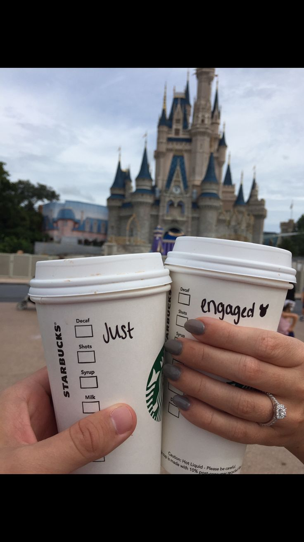 Engaged Starbucks & Disney