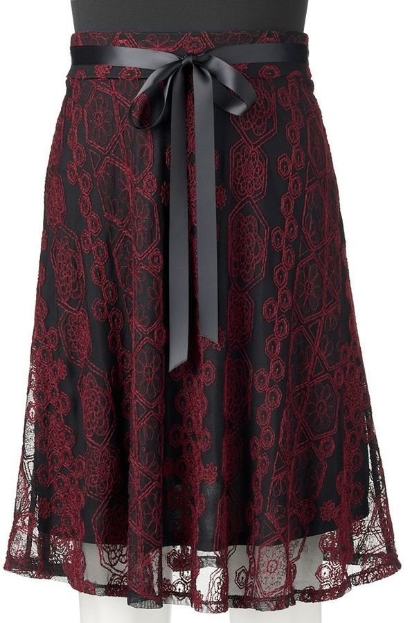 Juniors' Joe B Embroidered Midi Skirt