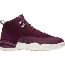 Jordan Retro 12 - Mens Basketball Shoes Bordeaux/Sail/Metallic Silver