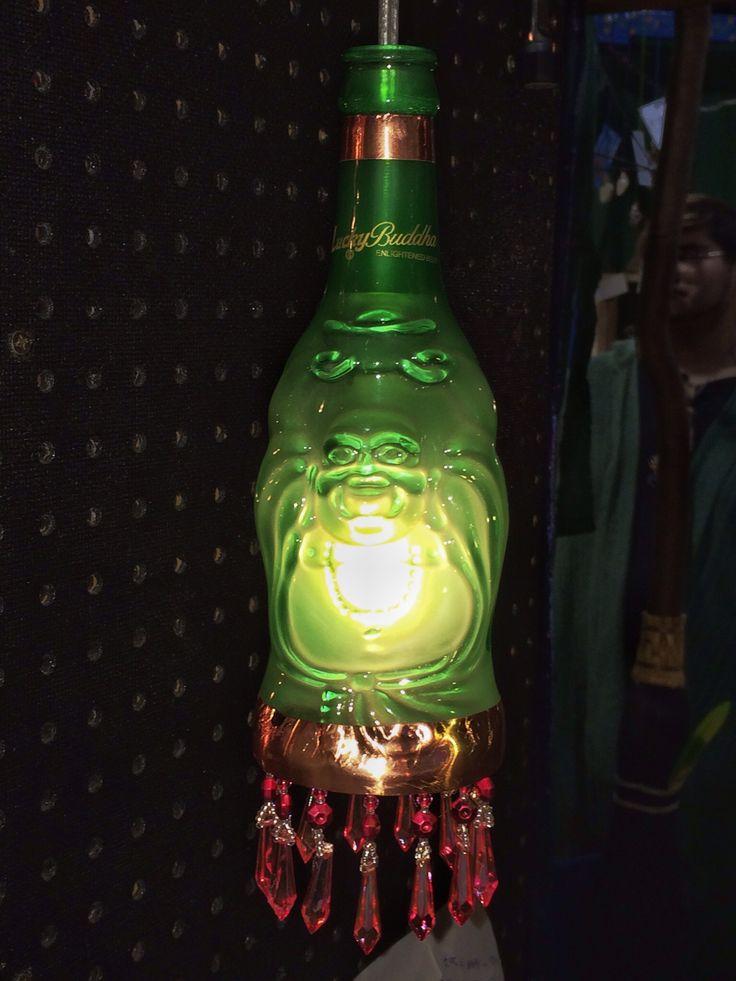 Buddha beer bottle lamp, Heather Storrs & Scott Norris, Haphazard Creativity