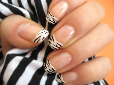 Zebra print nails  Never thought about this! Must do!