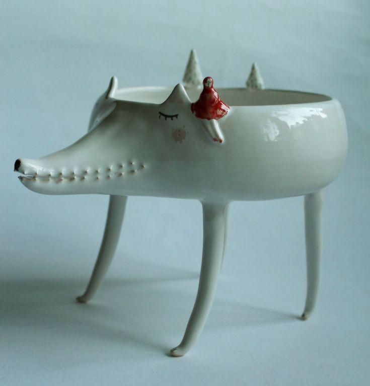 Simpáticos cuencos de cerámica obra de una artista polaca