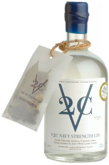 V2C Navy Strength Gin Fles