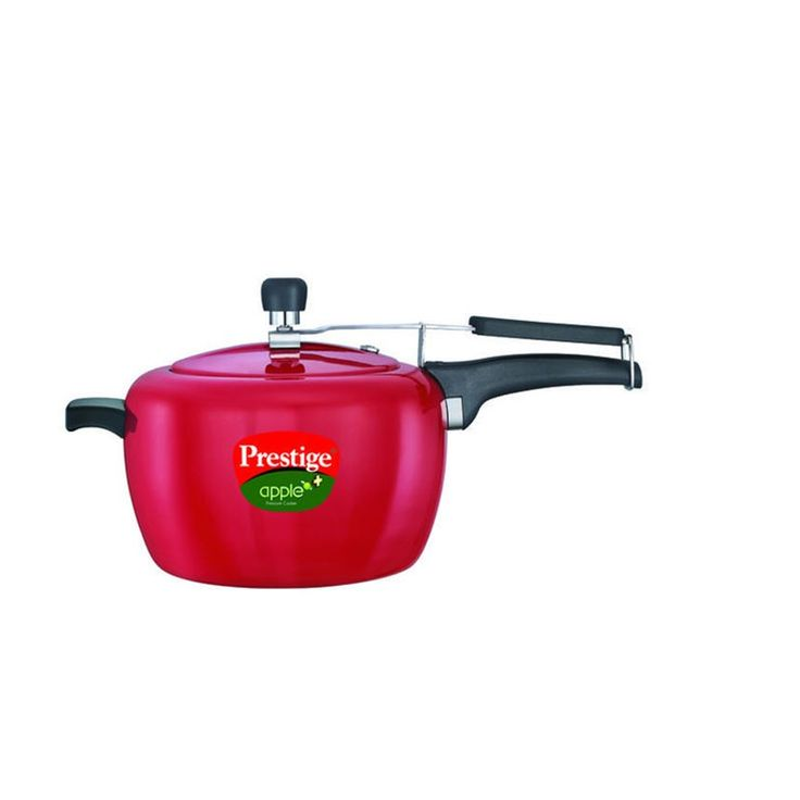 1 PIECE OF PRESTIGE 5 LITRE GAS&INDUCTION BASE APPLE PLUS RED COLOUR PRESSURE COOKER
