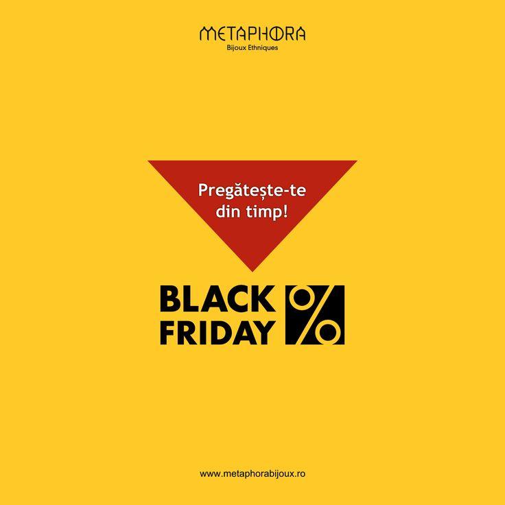 Pregătește-te din timp pentru Black Friday! #metaphora #reduceri #blackfriday