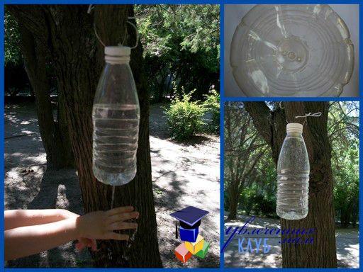 опыты для детей: рукомойник из пластиковой бутылки