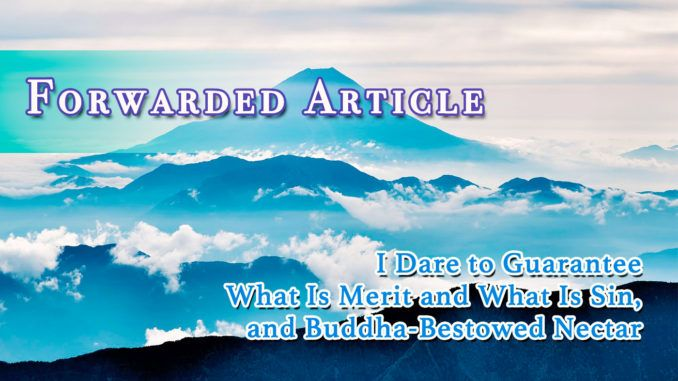 I Dare To Guarantee What Is Merit And What Is Sin And Buddha
