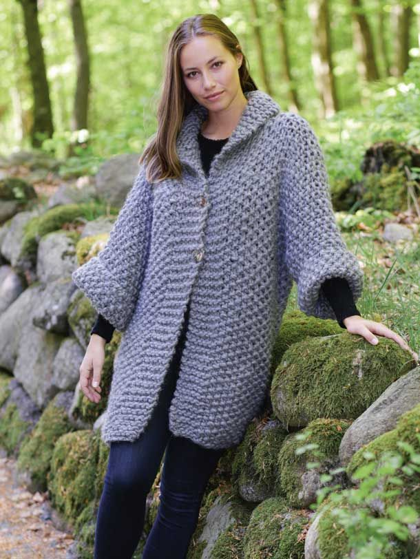 2f2a334f Strik en lun jakke i perlestrik | virkkaus | Knitting patterns ...